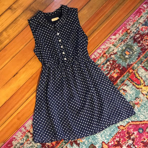 Urban Outfitters Navy Blue Polka Dot Dress